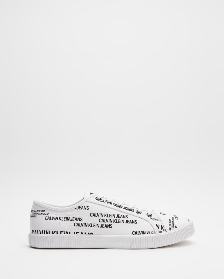 Calvin Klein Jeans Vulcanised Lace Up Sneakers Bright White Lace-Up