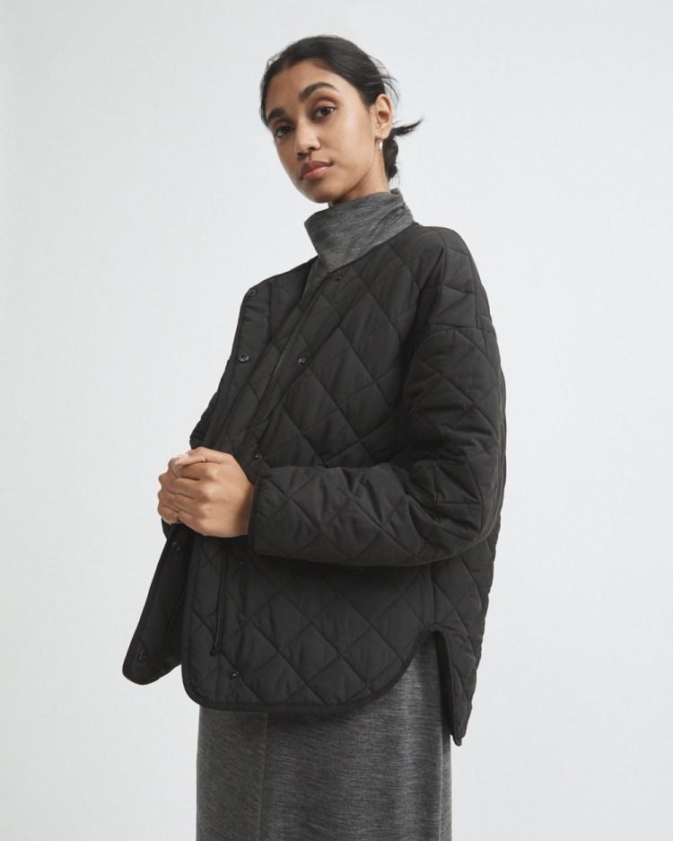 Witchery Diamond Puffer Jacket Coats & Jackets black