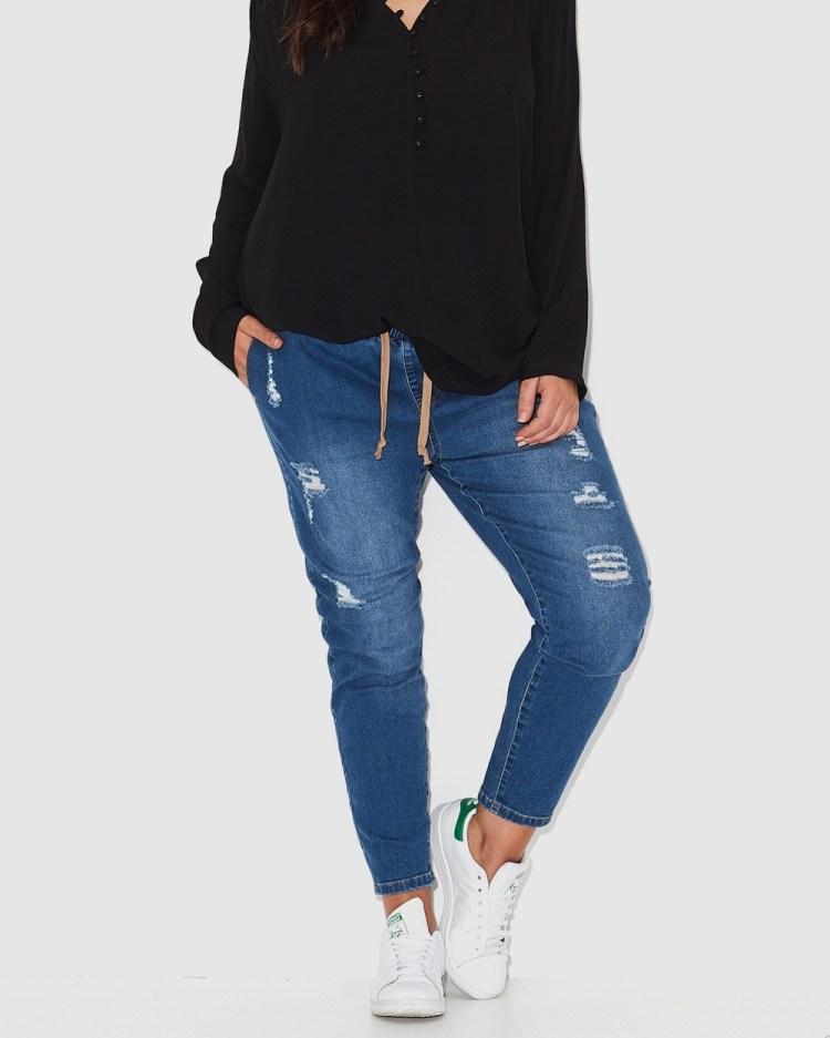 17 Sundays Warpaint Joggers Jeans neon indigo