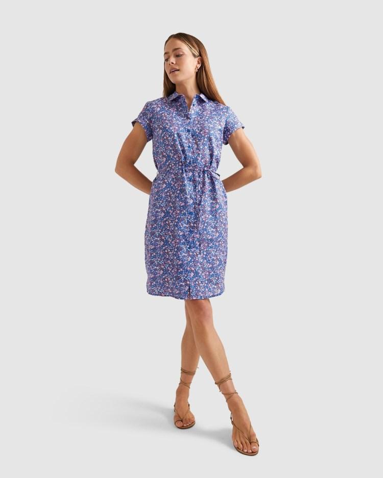 Sportscraft Phoebe Liberty Linen Dress Printed Dresses multi