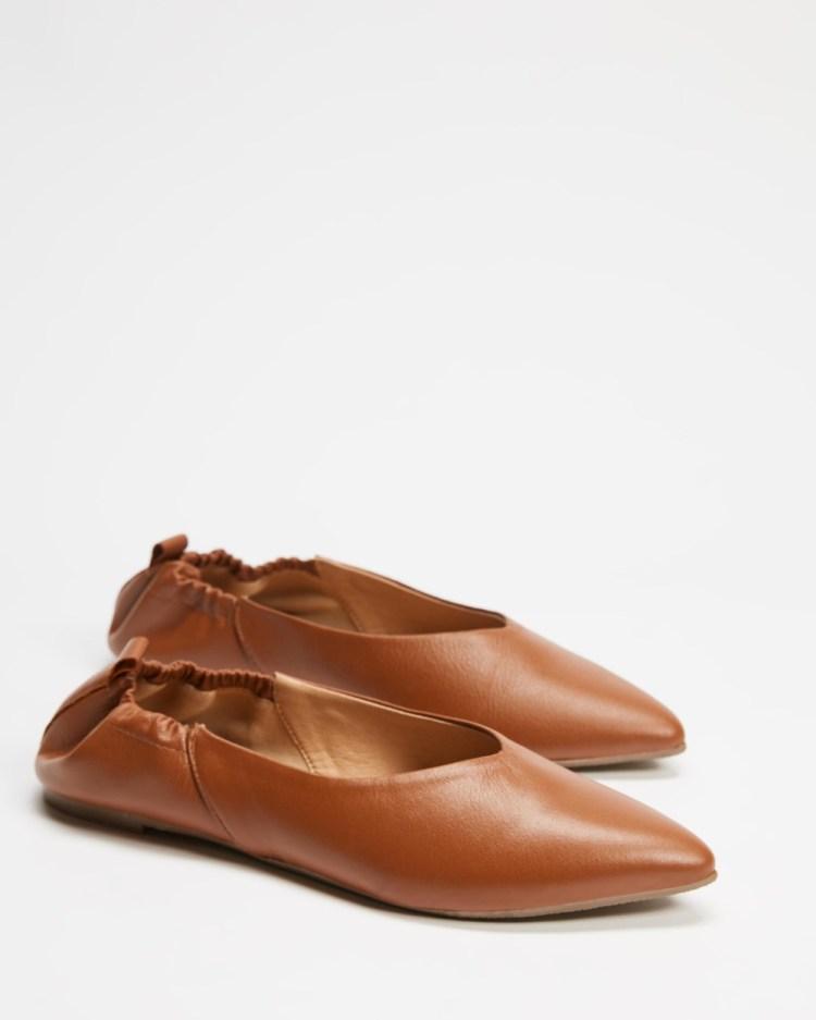 Human Premium Molly Ballet Flats Tan