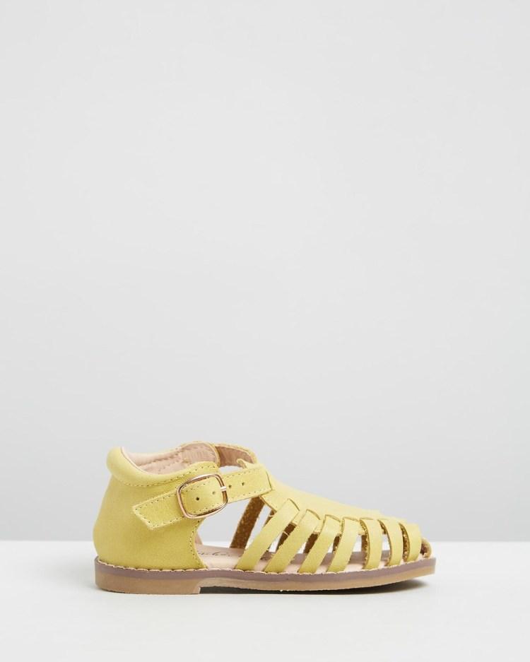 Anchor & Fox Amalfi Sandals Kids Casual Shoes Lemon