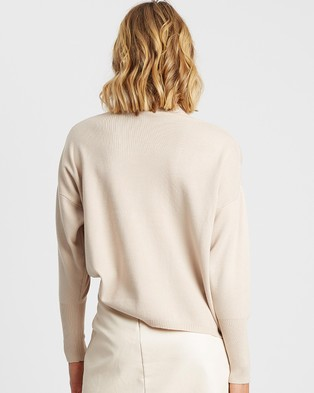 Tussah - Andria Knit Top - Jumpers & Cardigans (Soft Beige) Andria Knit Top