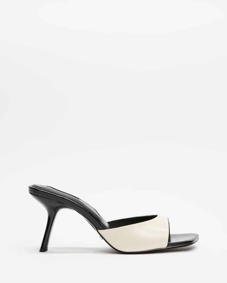 TOPSHOP Neci Mules Heels Off White