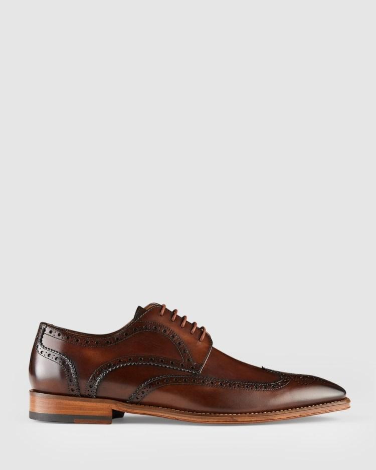 Aquila Bennet Brogues Dress Shoes Brown