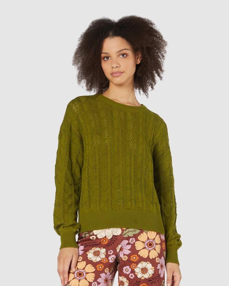 Princess Highway Gracey Sweater Sweats Green