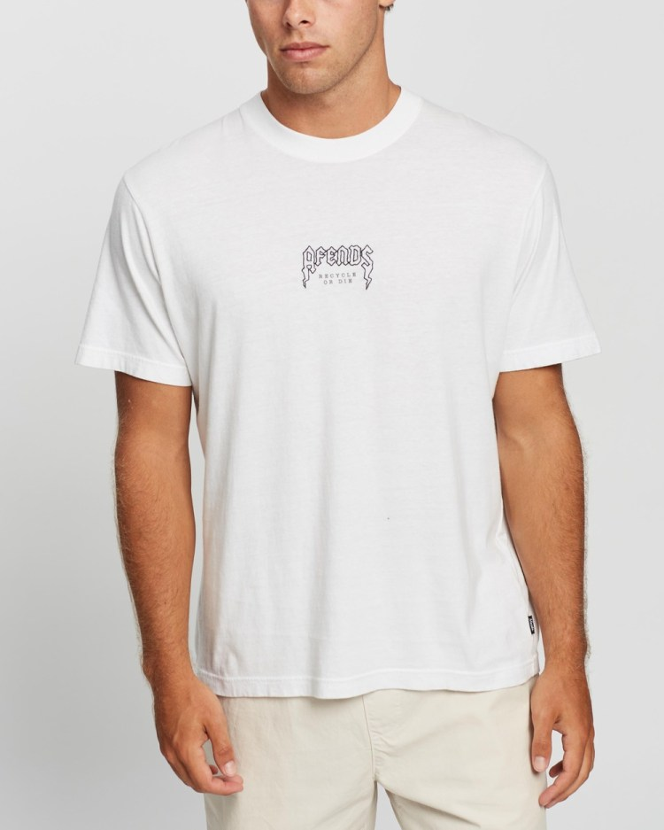 Afends Recycled Retro Fit Tee T-Shirts & Singlets White