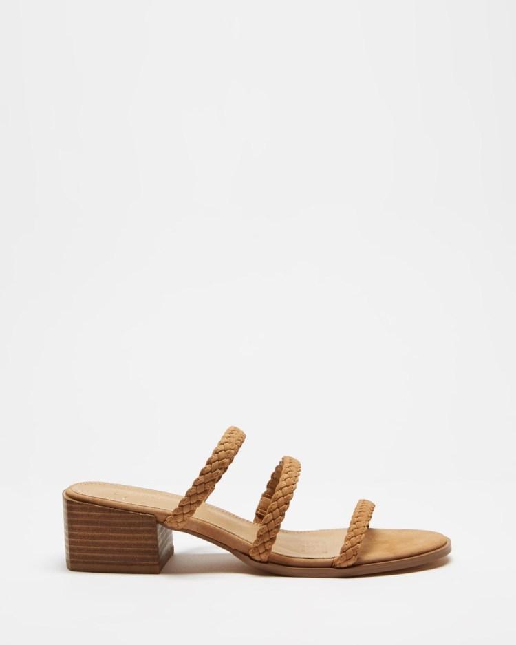 SPURR Avery Heels Mid-low heels Tan
