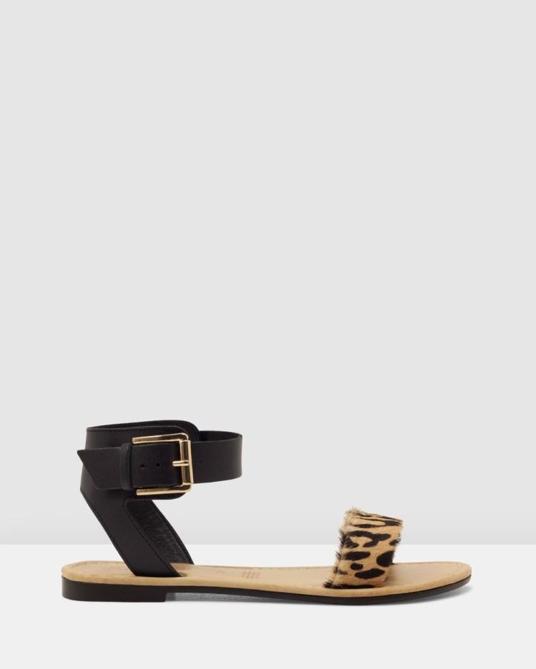 ROC Boots Australia Enza Sandals Black/Leopard