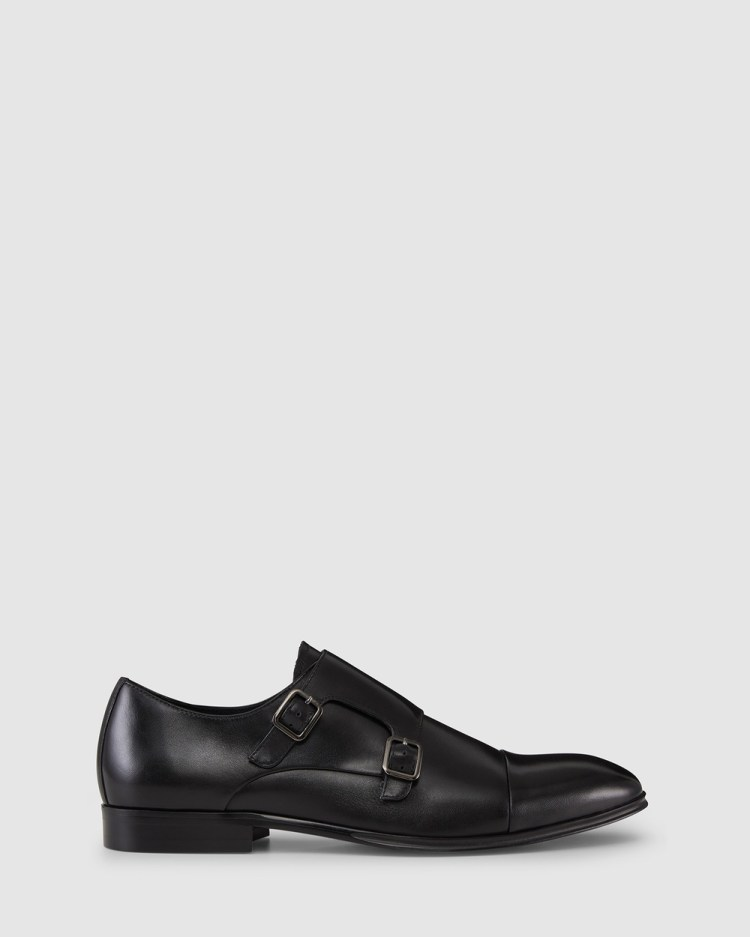 Aquila Batley Monk Strap Shoes Dress Black