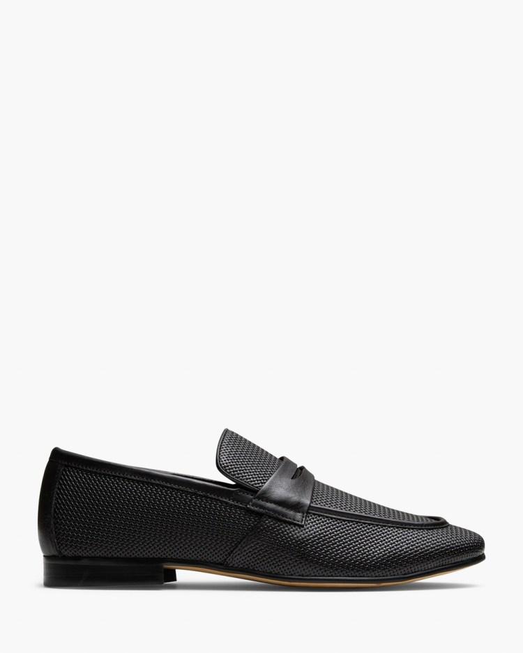 AQ by Aquila Cavarra Penny Loafers Flats Black