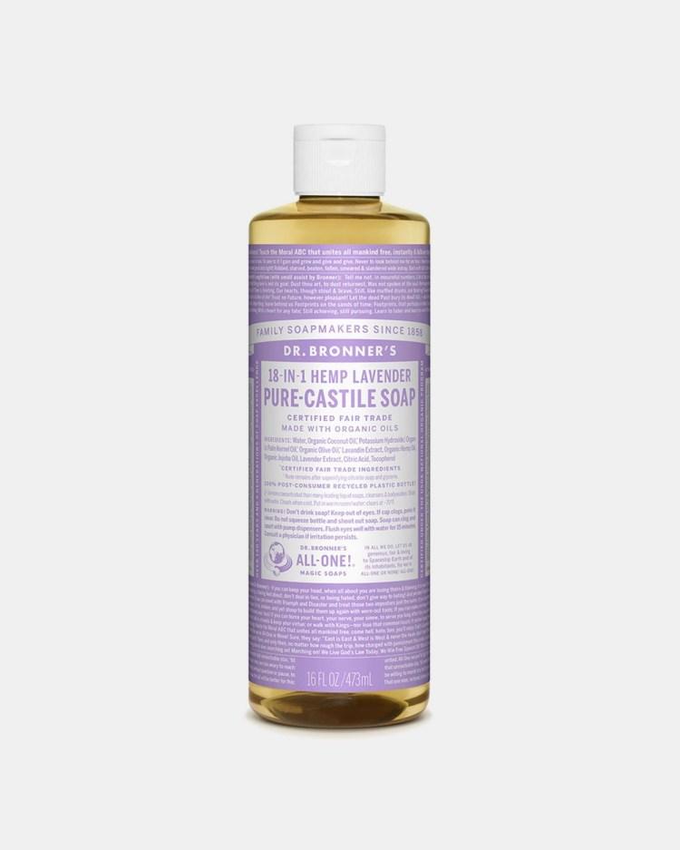 Dr Bronner's Pure Liquid Castile Soap Lavender 473ml Beauty Lavender