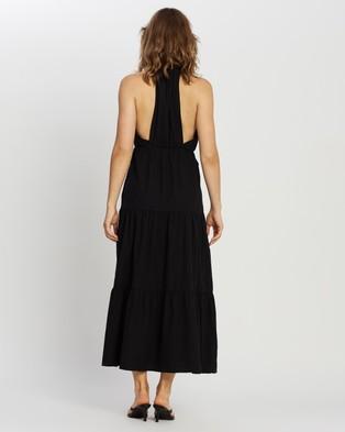 MINKPINK - Fabled Maxi Dress - Dresses (Black) Fabled Maxi Dress