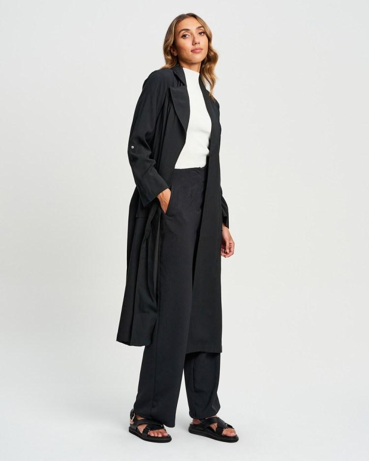 Willa Botanist Trench Coats & Jackets Black