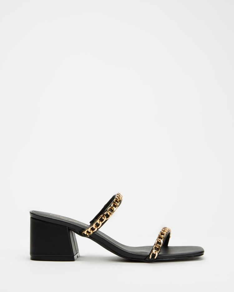 Therapy Goldie Chain Mid-low heels Black