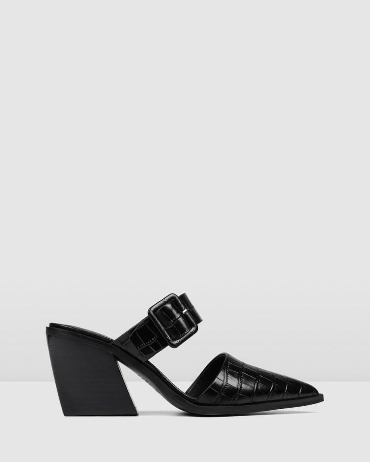 Jo Mercer Fender Mid Heels Mid-low heels BLACK CROC