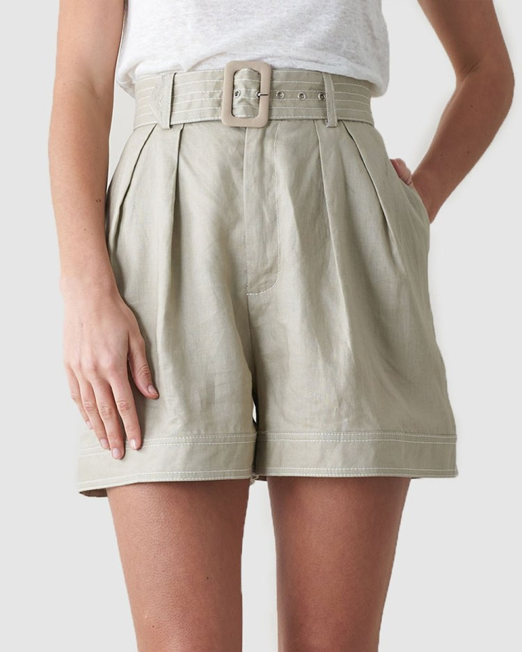 Amelius Privvy Short High-Waisted Stone