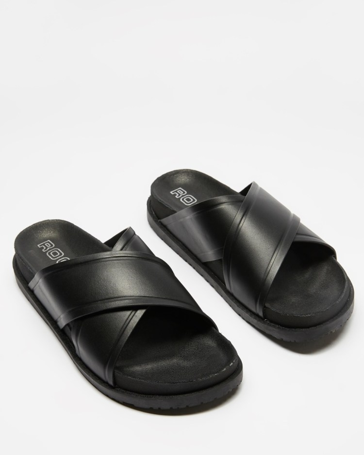 ROC Boots Australia Taboo Sandals Black Leather