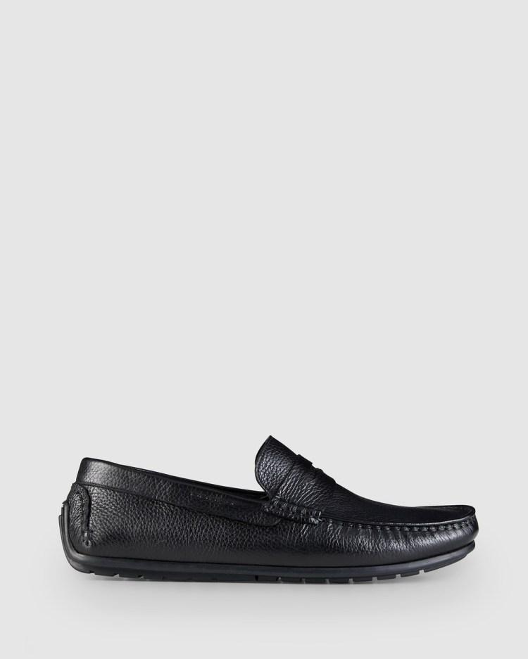 AQ by Aquila Hewitt Driving Shoes Dress Black