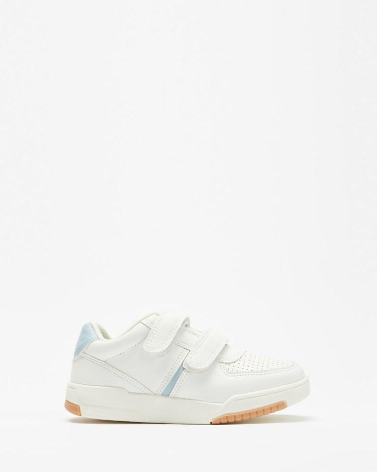 Cotton On Kids Retro Tennis Trainers Sneakers White, Blue & Gum