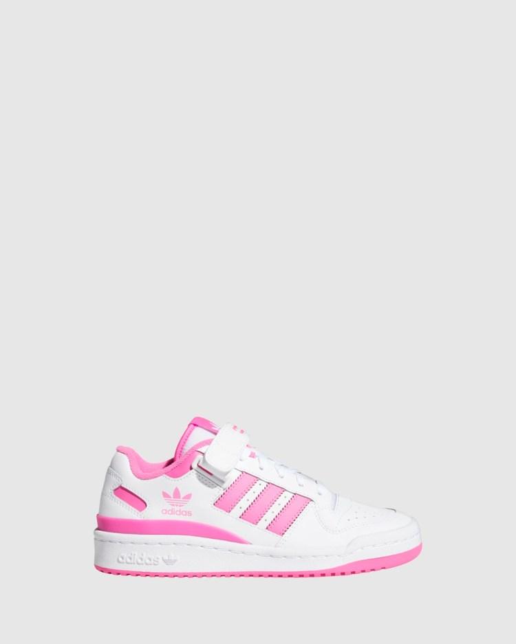 adidas Originals Forum Low Grade School Sneakers White/Screaming Pink