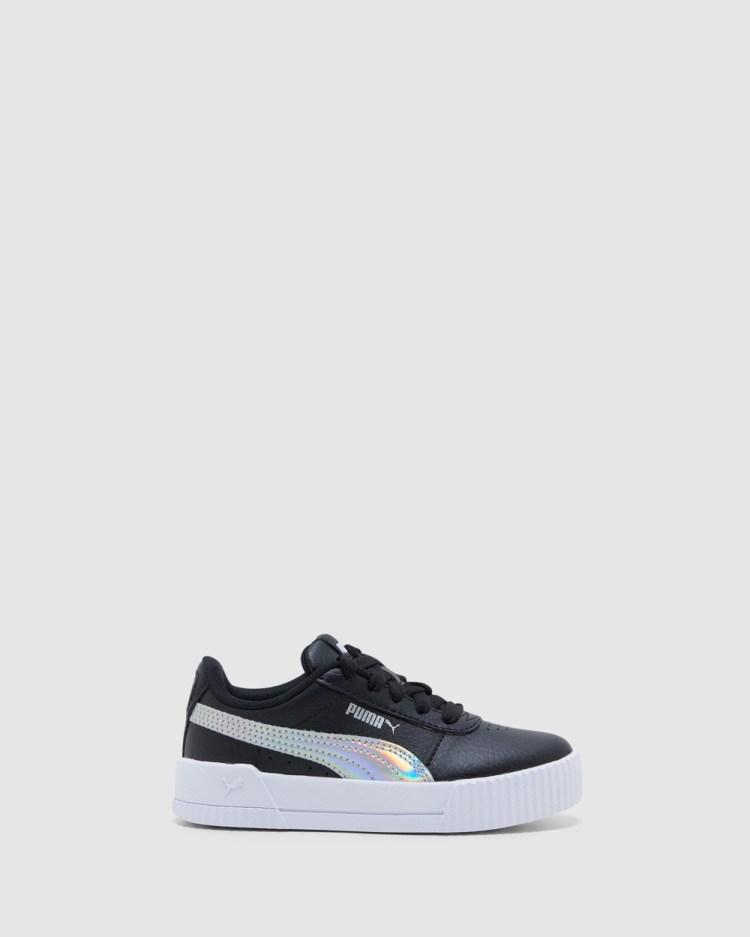 Puma Carina Rainbow Pre School Sneakers Black/Silver