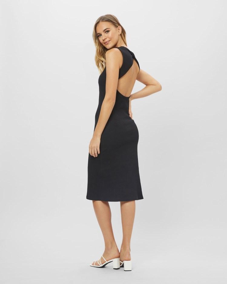 ids Ava Open Back Dress Bodycon Dresses Black