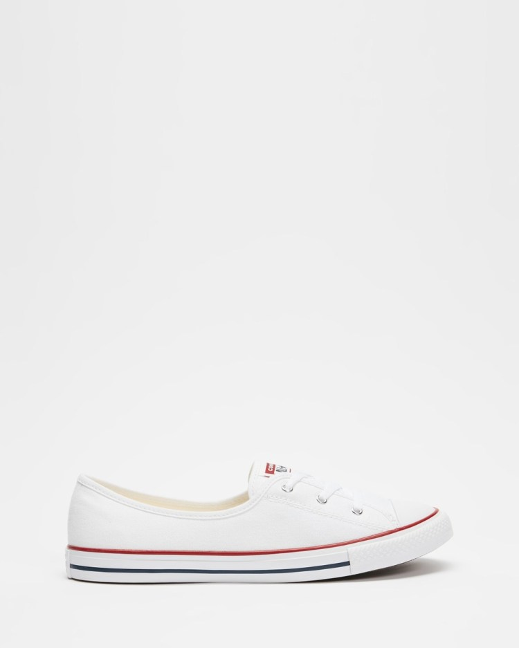 Converse Chuck Taylor All Star Ballet Lace Women's Slip-On Sneakers White, Garnet & Navy