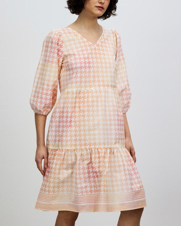 Cecilie Copenhagen Ruby Short Dress Printed Dresses Emberglow