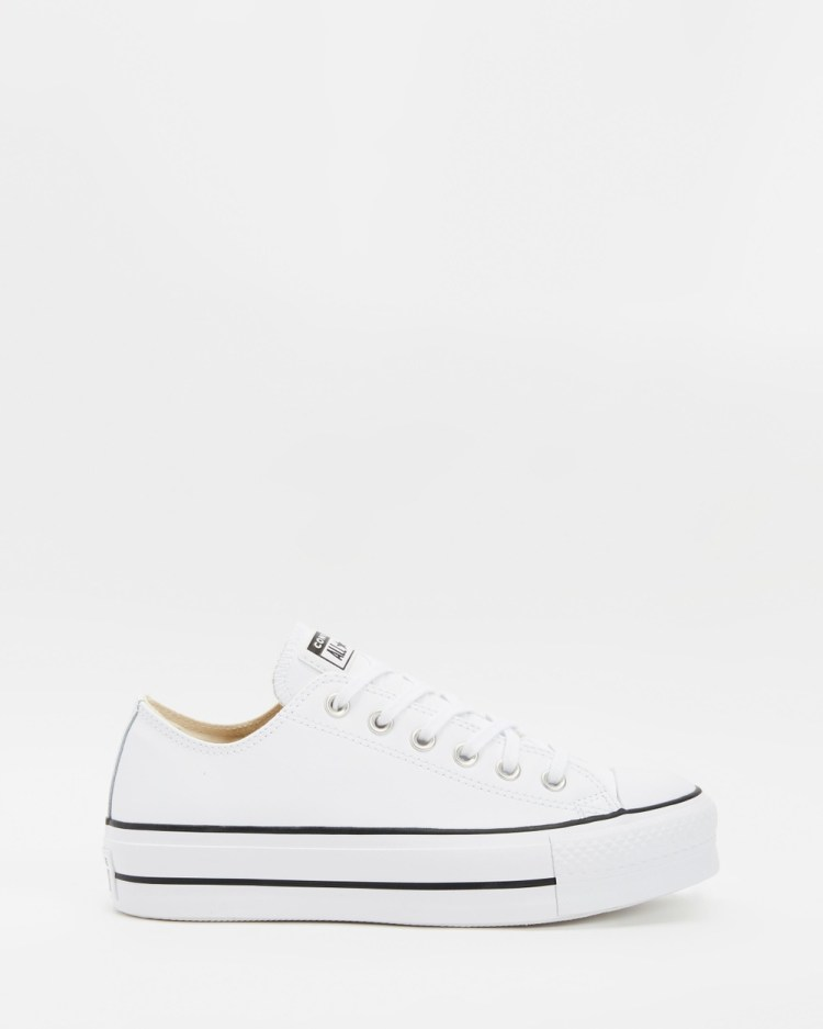 Converse Chuck Taylor All Star Platform Ox Sneakers White & Black
