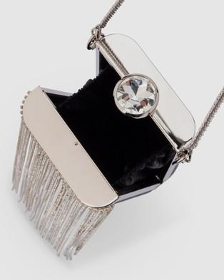 Olga Berg - Luiza Crystal Fringe Bag - Handbags (Black) Luiza Crystal Fringe Bag