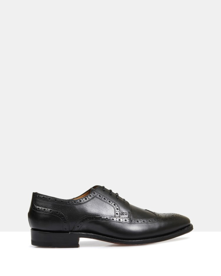 Brando Davenport Good Year Welted Brogues Dress Shoes Black-902