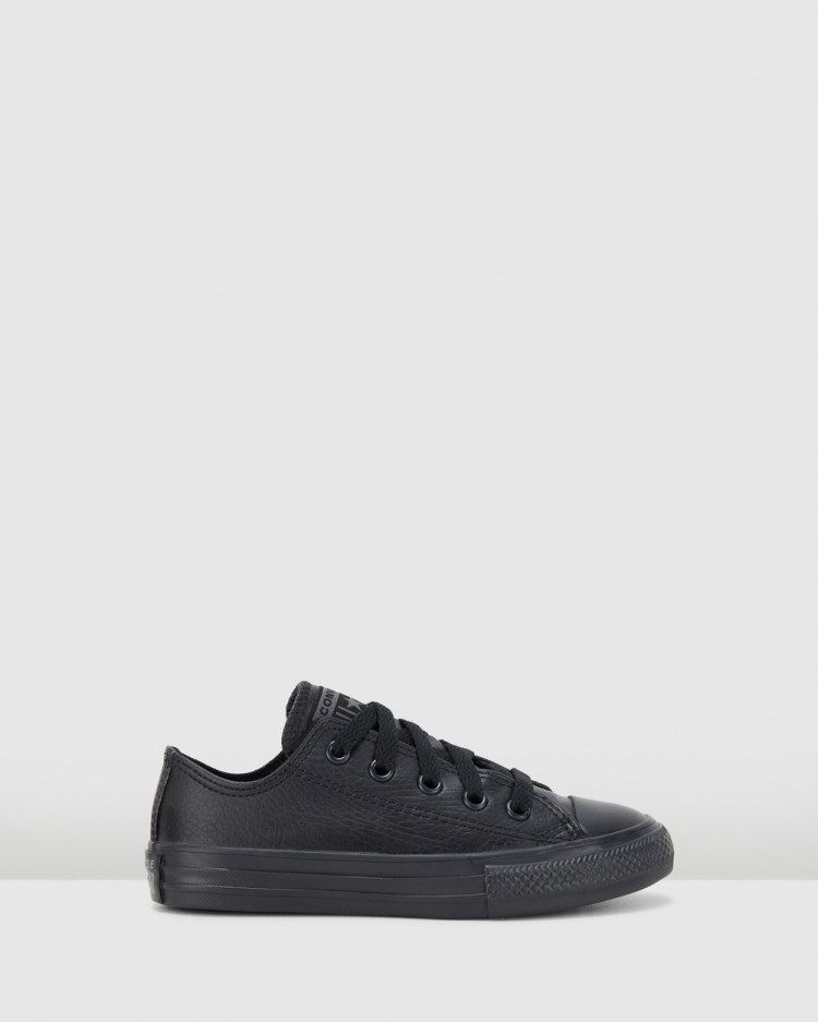 Converse Chuck Taylor All Star Ox Synthetic Youth Flats Black