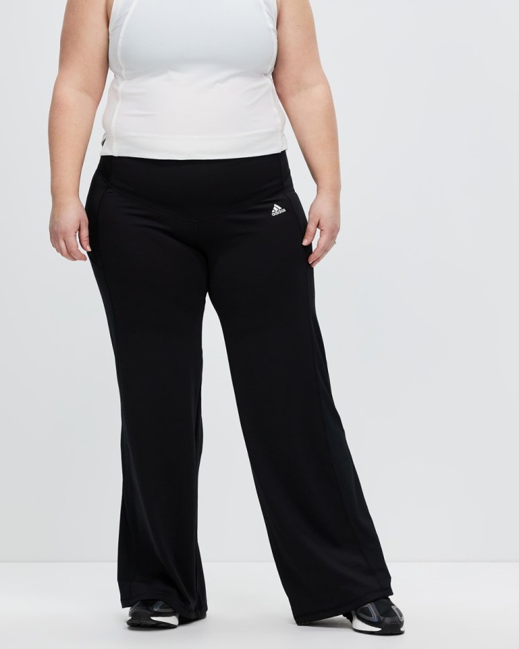 adidas Performance Designed To Move Bootcut Pants Track Black & White