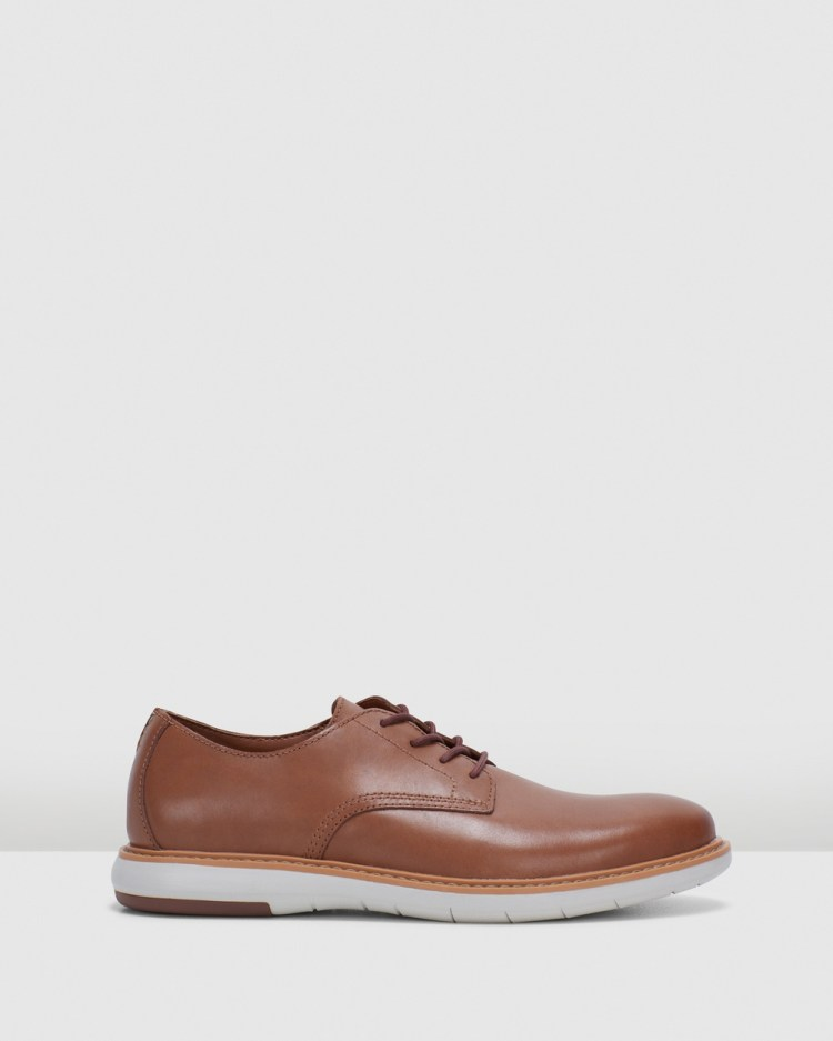 Clarks Draper Lace Casual Shoes Tan Leather