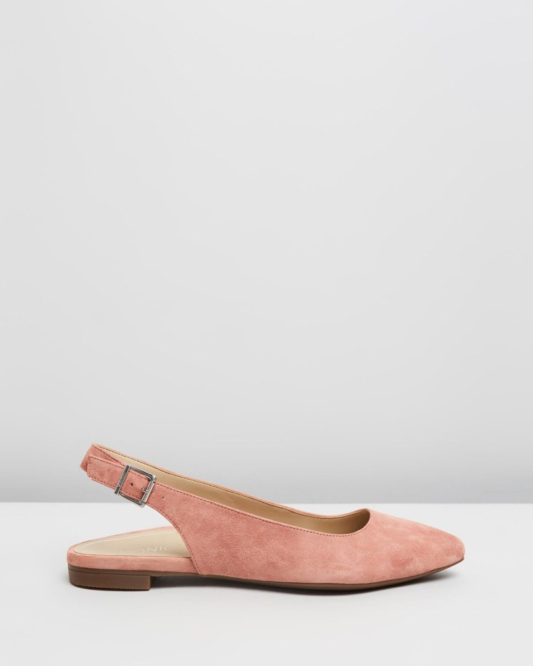 Vionic Jade Slingback Flats Dusty Pink