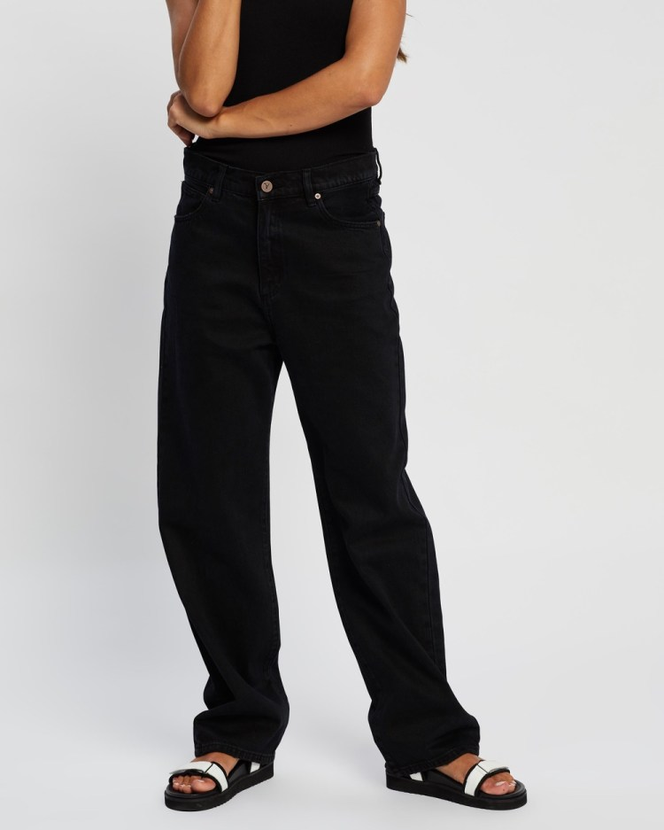 Abrand A Slouch Jeans High-Waisted Black