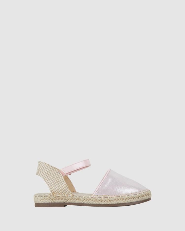 Kicks Kayla Espadrille Flats Light Pink