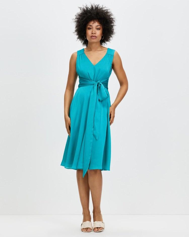 Review Peacock Dress Dresses Blue