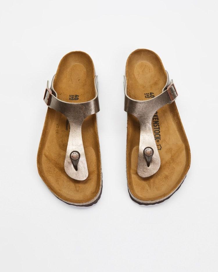 Birkenstock Gizeh Graceful Womens Sandals Taupe