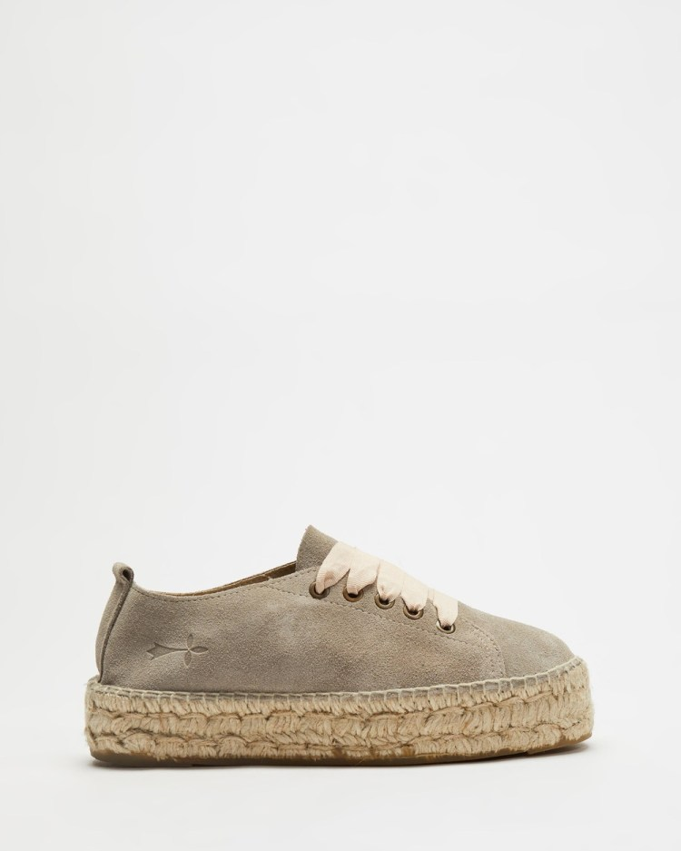 MANEBI ESPADRILLES Hamptons Espradrille Sneakers Vintage Taupe