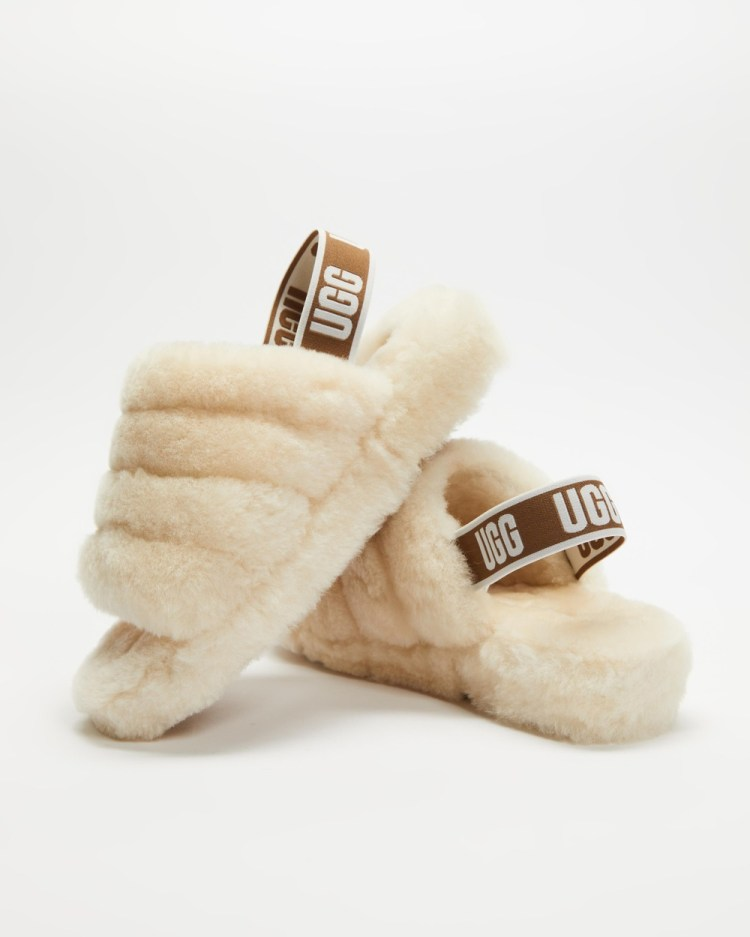UGG Fluff Yeah Slides Slippers & Accessories Natural