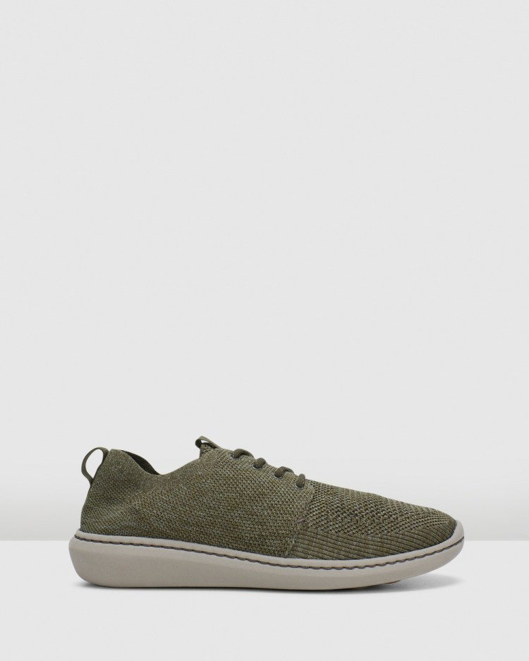 Clarks Step Urban Mix Low Top Sneakers Olive Green