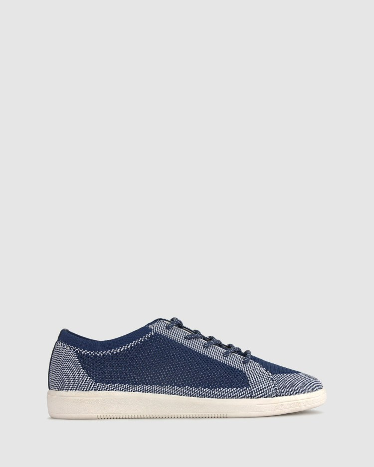 Betts Raine Flyknit Sneakers Casual Shoes Navy