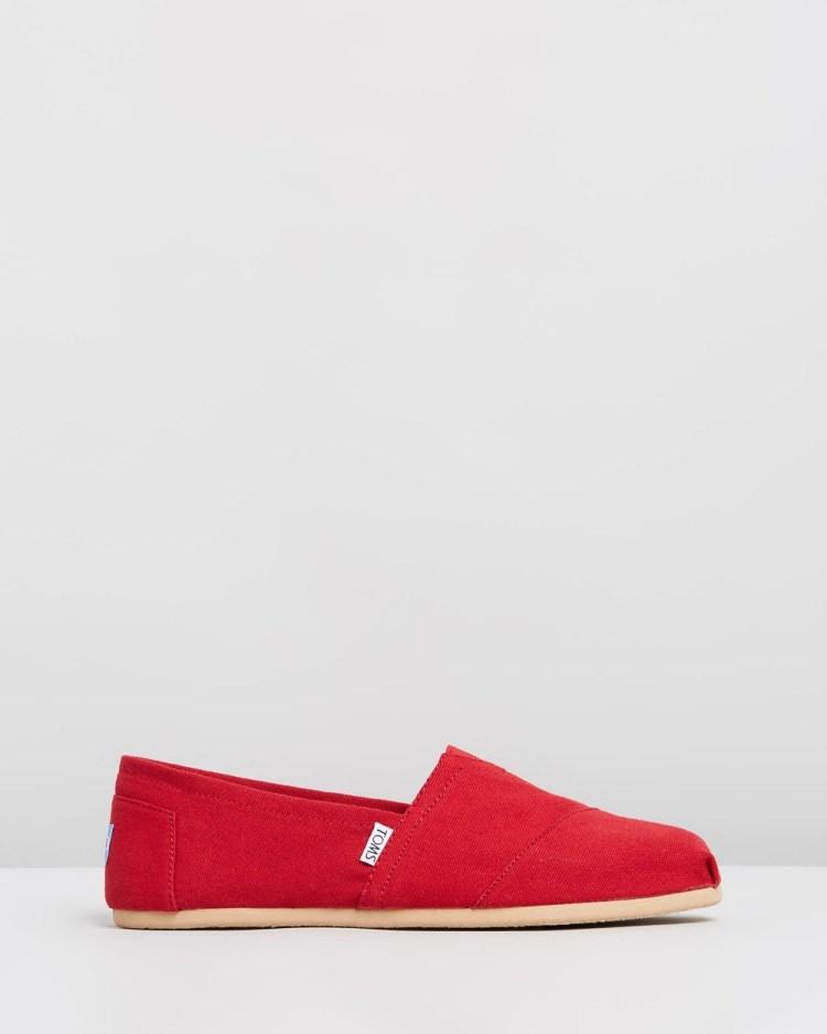 TOMS Canvas Classics Men's Casual Shoes Red