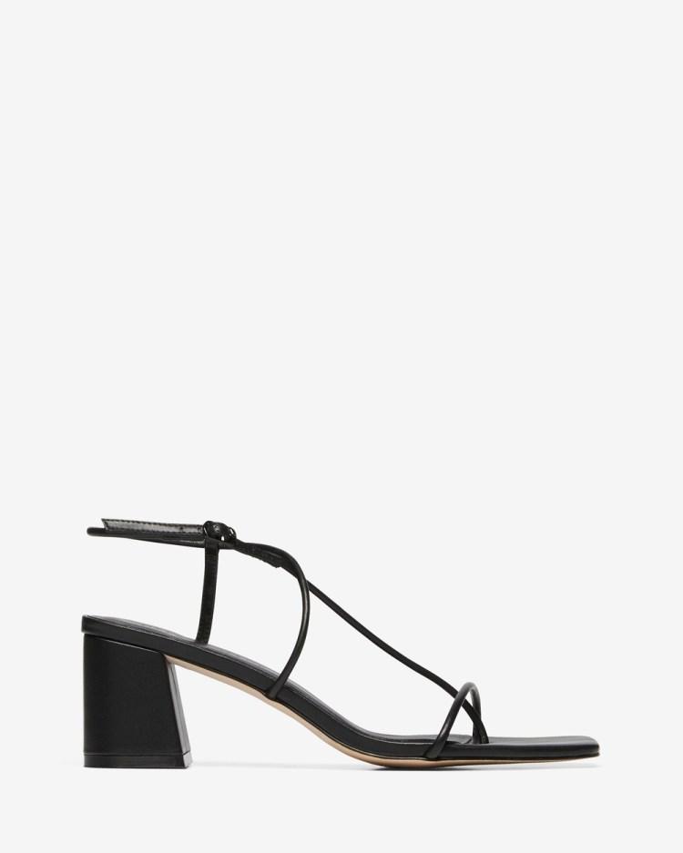 Nelson Made Juliette II Sandals Black Calf Leather