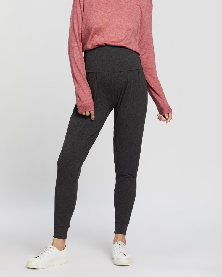 Angel Maternity Tapered Casual Pants Grey