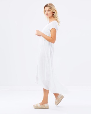 Privilege - Midi Length Dress - Dresses (White) Midi Length Dress