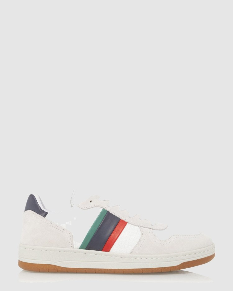 Dune London Trickery Low Top Sneakers White