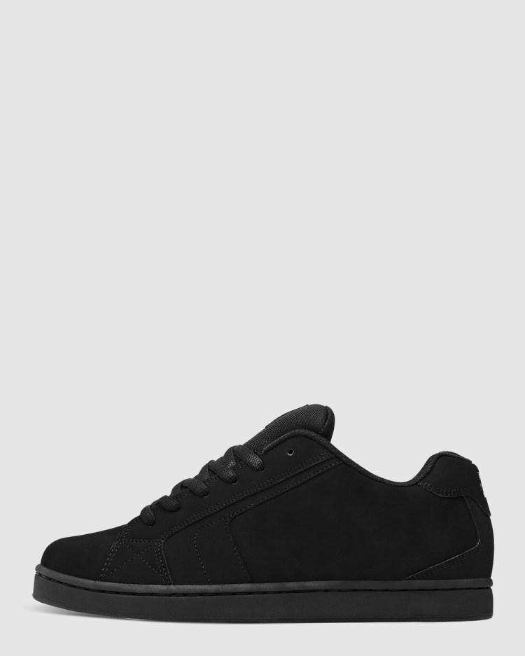 DC Shoes Mens Net Shoe Sneakers Black/Black/Black
